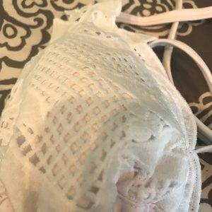Xhilaration Swim - Target triangle white lace bikini top